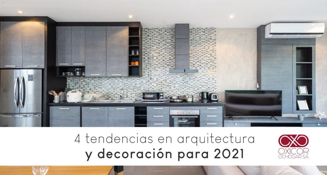 4 tendencias en arquitectura y decoración para 2021